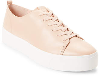 Calvin Klein Sheer Satin Janet Leather Low-Top Sneakers