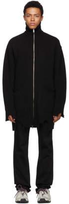 Diesel Black Long K-Zak Zip-Up Sweater