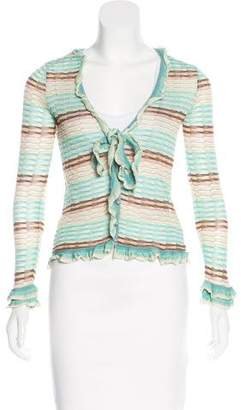 Missoni Long Sleeve Patterned Cardigan