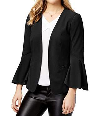 Kensie Women's Stretch Crepe Blazer Bell Sleeve