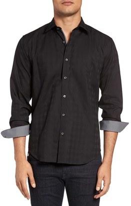 Men's Bugatchi Shaped Fit Tonal Plaid Sport Shirt $149 thestylecure.com