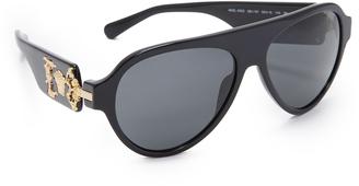 Versace Medusa Flat Top Sunglasses $315 thestylecure.com