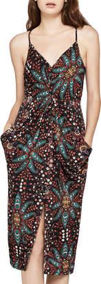 BCBGeneration Floral Drapey Sleeveless Pocket Dress