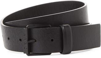 DKNY Black Crinkled Leather Belt