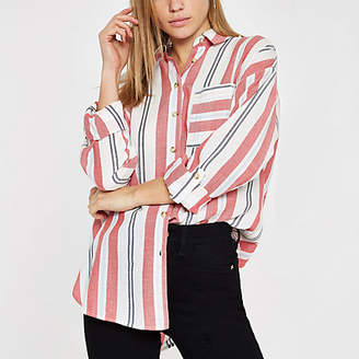 River Island Womens Red stripe long sleeve shirt