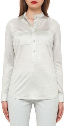 Women's Akris Silk Jersey Blouse $1,290 thestylecure.com