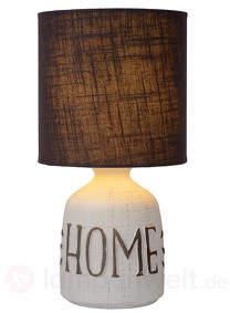 Dekorative Textil-Tischlampe Cosby