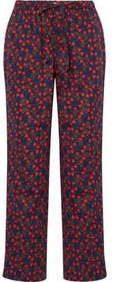 Sleepy Jones Floral-Print Cotton Pajama Pants