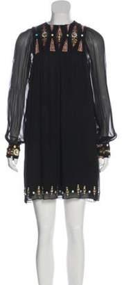 Matthew Williamson Silk Embroidered Dress Black Silk Embroidered Dress