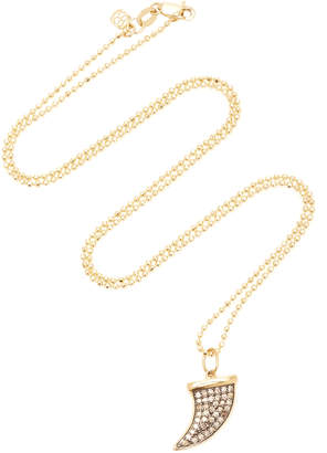 Sydney Evan 14K Yellow Gold Rhodium Champagne Diamond Necklace
