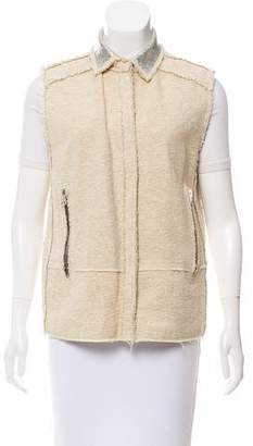 Acne Studios Collared Raw-Edge Vest