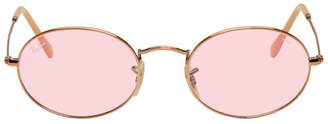 Ray-Ban Copper and Pink Oval Evolve Sunglasses