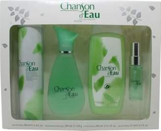 Coty Chanson Deau Gift Set 100mL Edt + 15mL Edt + 200mL Shower Gel For Women