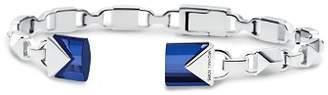 Michael Kors Mercer Link Semi-Precious Sterling Silver Center Back Hinged Cuff