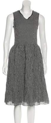 Hache Gingham Midi Dress
