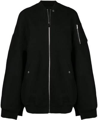 Rick Owens bomber cape coat
