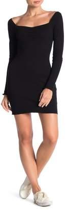 re:named apparel Dani Ribbed Knit Mini Dress