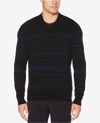 Perry Ellis Men's Striped V-Neck Sweater