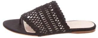 Giambattista Valli Woven Thong Sandals