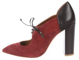 Malone Souliers Suede Pointed-Toe Pumps