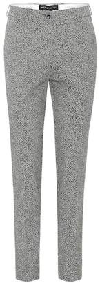 Etro Cropped high-rise straight pants