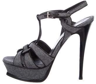 Saint Laurent Knit Tribute Sandals