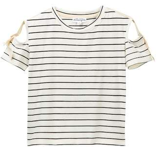 Ten Sixty Sherman Cutout Stripe Sleeve Tee (Big Girls)