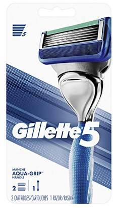 Gillette 5 Men's Razor Handle with 2 Cartridges