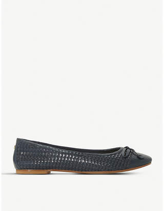 Dune Hennah woven-leather ballet flats