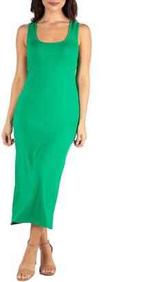 24/7 Comfort Apparel 24/7 Comfort Dress Racerback Maxi Dress