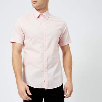 Michael Kors Men's Slim Fit Micro Pin Dot Garment Dyed Short Sleeve Shirt