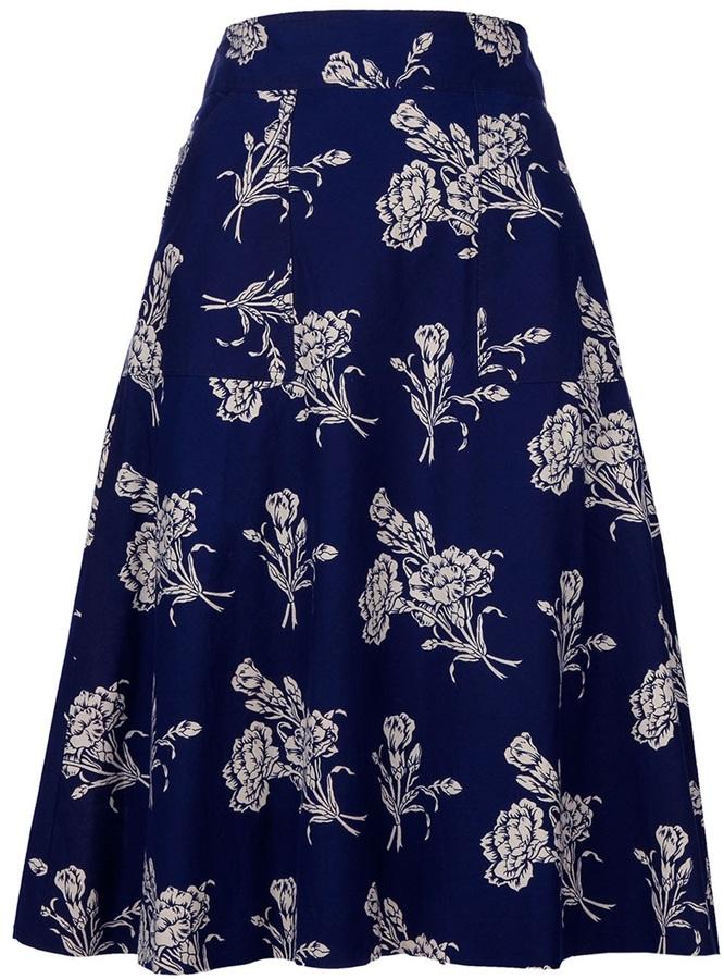 Cacharel Vintage Floral skirt