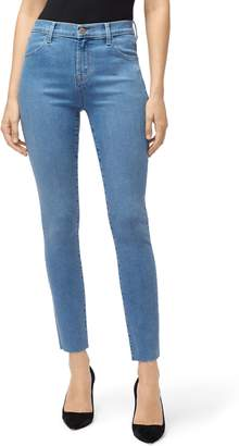 J Brand Leenah Super High Waist Raw Ankle Skinny Jeans