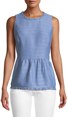 Sail To Sable Tweed Peplum-Hem Tank
