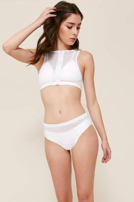 KENDALL + KYLIE Ardene Kendall & Kylie White Mesh Overlay Bikini Bottom