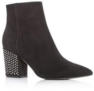 Sergio Rossi Women's Crystal High Block-Heel Boots