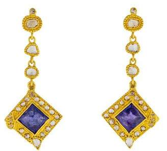 Coomi 20K Tanzanite & Diamond Drop Earrings