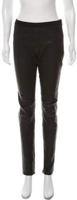 Acne Studios Leather Mid-Rise Pants