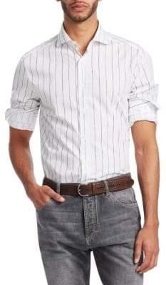 Brunello Cucinelli Pinstripe Button-Down Shirt