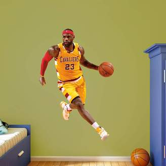 Fathead Cleveland Cavaliers LeBron James Gold Throwback Wall Decal