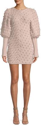 Zimmermann Fleeting Bauble Blouson-Sleeve Body-Con Dress