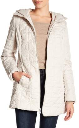 Laundry by Shelli Segal Soft Tech Quilt Hooded Coat