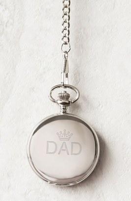 Men's Cathy's Concepts 'Dad' Pocket Watch, 44Mm $49 thestylecure.com