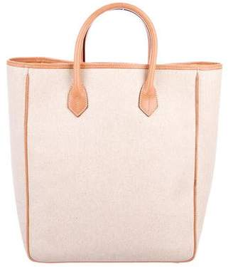 Neiman Marcus Leather-Trimmed Tote