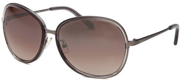 Calvin Klein Women's Round Grey Sunglasses