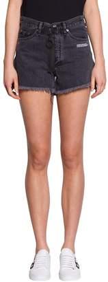 Off-White Off White Denim Cotton Shorts