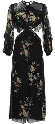 Zimmermann Open-back Floral-print Silk-georgette Jumpsuit