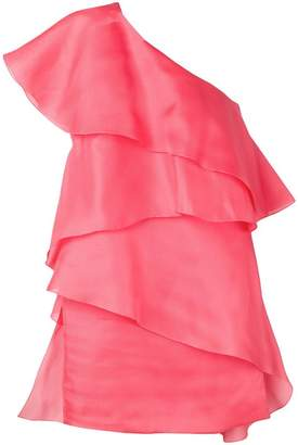 Lanvin one-shoulder draped wrap dress