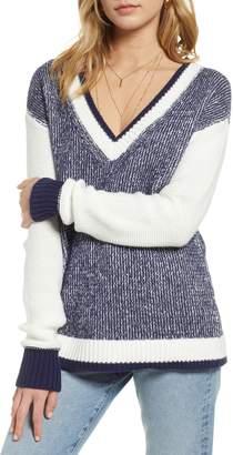 Treasure & Bond Marled V-Neck Sweater