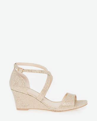 Le Château Glitter Mesh Wedge Sandal
